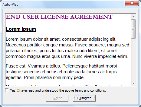 Eula Examples Free Printable Documents